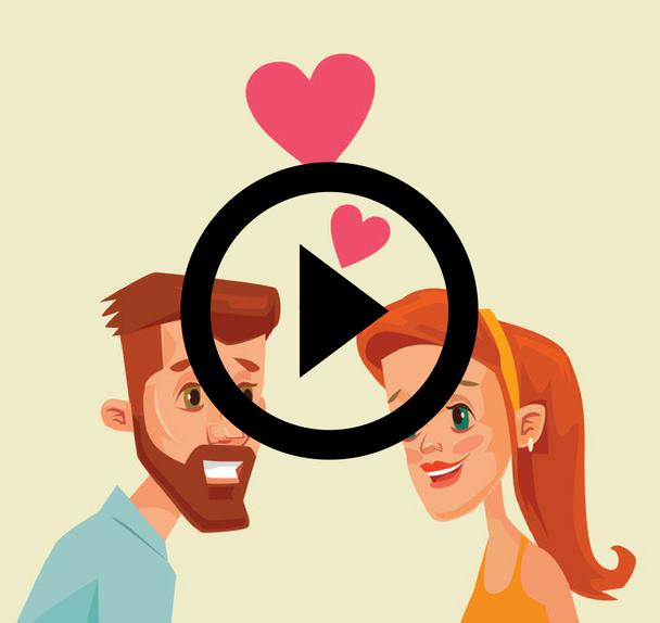 Körpersprache eines mannes beim flirten